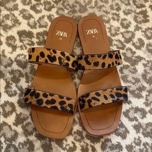 Zara Leopard Sandals, 39